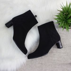 Stuart Weitzman Quilted Ankle Booties